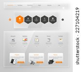 website template  glass...   Shutterstock .eps vector #227104219