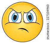 grumpy face | Shutterstock .eps vector #227104960
