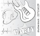 listen to music.party time... | Shutterstock .eps vector #227116129