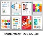 set of flyer  brochure design... | Shutterstock .eps vector #227127238