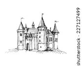 Medieval Castle Sketch. Vector...