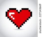 heart love graphic design  ... | Shutterstock .eps vector #227143669