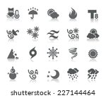 weather icons | Shutterstock .eps vector #227144464