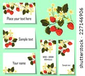 set of invitations with floral... | Shutterstock . vector #227146906