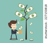 interest  and dividend concept | Shutterstock .eps vector #227153818