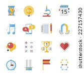 back to school icons set in... | Shutterstock .eps vector #227157430