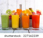fruit and vegetable juice in... | Shutterstock . vector #227162239