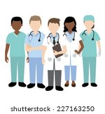 doctor and medical team | Shutterstock .eps vector #227163250