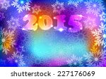 new year 2015. simple neon... | Shutterstock .eps vector #227176069