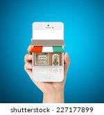 on line store. sale  smart phone   Shutterstock . vector #227177899