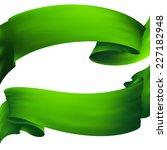 waving green ribbon banner | Shutterstock . vector #227182948