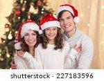 happy family on christmas | Shutterstock . vector #227183596