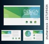 brochure flyer design vector... | Shutterstock .eps vector #227195434