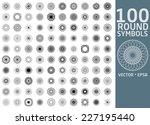 round symbols set. 100 vector...