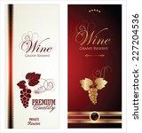 wine labels   Shutterstock .eps vector #227204536