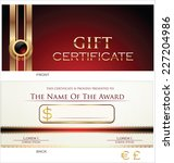 gift certificate template | Shutterstock .eps vector #227204986