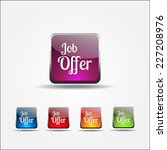 job offer colorful vector icon... | Shutterstock .eps vector #227208976