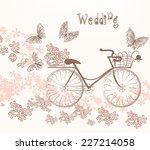 cute vector invitation with... | Shutterstock .eps vector #227214058
