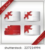 collection of gift cards with... | Shutterstock .eps vector #227214994