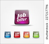 job offer colorful vector icon... | Shutterstock .eps vector #227217796
