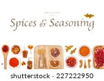 spices and seasoning on white... | Shutterstock . vector #227222950