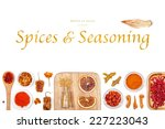 spices and seasoning on white... | Shutterstock . vector #227223043