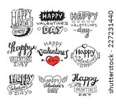 valentine's day and love... | Shutterstock .eps vector #227231440