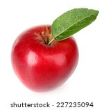 ripe red apple isolated on white | Shutterstock . vector #227235094