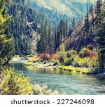 Beautiful Mountain River