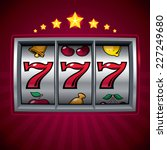 slot machine lucky seven. eps8. ... | Shutterstock .eps vector #227249680