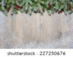 christmas background with fir... | Shutterstock . vector #227250676