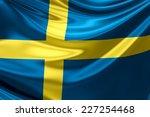 flag of sweden.   Shutterstock . vector #227254468