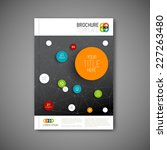modern vector abstract brochure ... | Shutterstock .eps vector #227263480