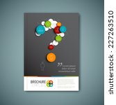 modern vector abstract brochure ... | Shutterstock .eps vector #227263510