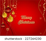 christmas background.  | Shutterstock .eps vector #227264230