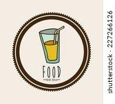 drink design over beige... | Shutterstock .eps vector #227266126