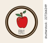 fruit design over beige... | Shutterstock .eps vector #227266249