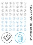 icon drawing tools | Shutterstock .eps vector #227266453