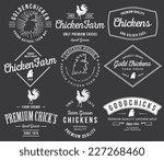 vector quality chicken badges... | Shutterstock .eps vector #227268460