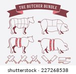 vector quality beef badges and... | Shutterstock .eps vector #227268538