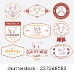 vector quality beef badges and... | Shutterstock .eps vector #227268583