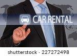 car rental   businessman with... | Shutterstock . vector #227272498