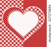 Valentine Card. Red And White...