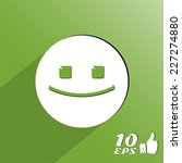 positive face. flat style. made ... | Shutterstock .eps vector #227274880