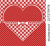 greeting card with dotted heart.... | Shutterstock .eps vector #227275978