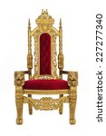 Small photo of an elegant throne / with gold carvings and whatnot / includes clipping path