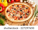 supreme pizza | Shutterstock . vector #227297650