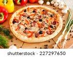 supreme pizza | Shutterstock . vector #227297650