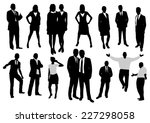 business people silhouettes set | Shutterstock .eps vector #227298058