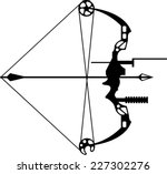 modern hunting bow and arrow | Shutterstock .eps vector #227302276